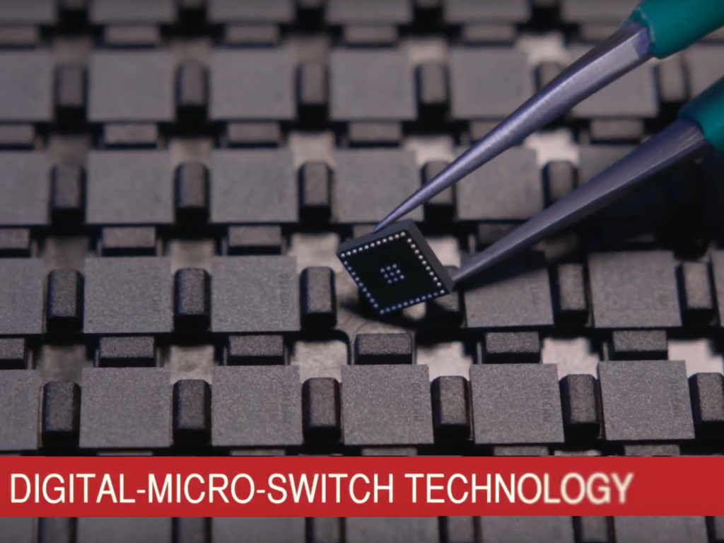 Menlo's RF MEMS switch using digital micro switch technology achieves small form factor