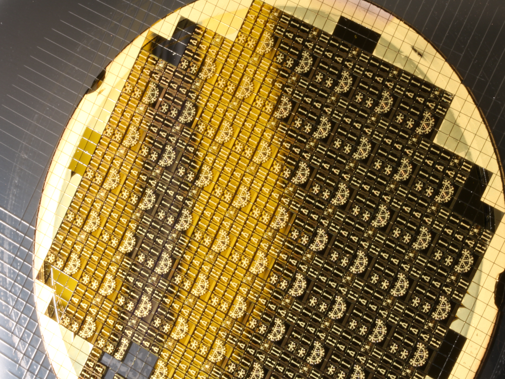 RF MEMS switch die on glass substrate